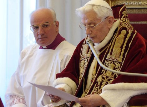 Benedict XVI announces his resignation