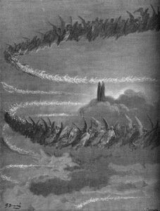 "Dante and the Heavenly Hosts, ""Jupiter"" by Gustave Dore"