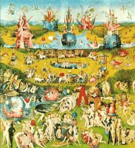 "Hieronymus Bosch's ""The Garden of Earthly Delight s."" Circa 1504"