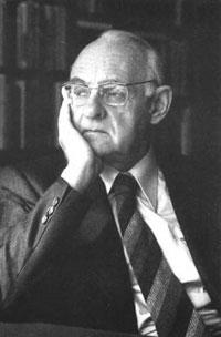 Hans Urs von Balthasar, contemplating.