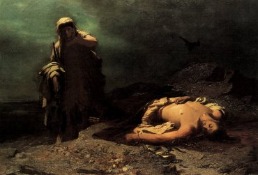 """Antigone in front of the dead Polynices,"" by Nikiphoros Lytras, 1865."