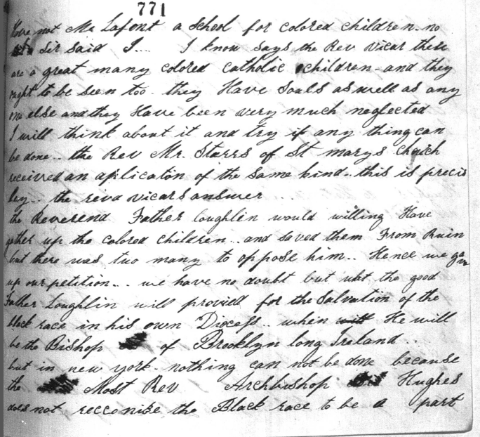 Harriet Thompson to Pope Pius IX, 1853, Page 4 Image (c) 2014, University of Notre Dame Archives