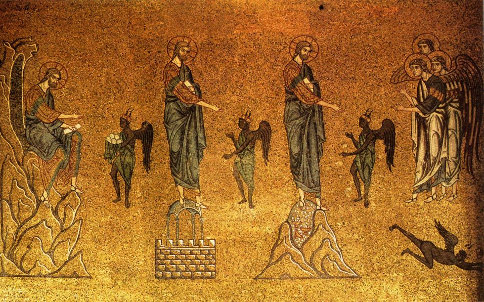 Mosaic of the Temptations of Christ (St. Mark's Basilica, Venica, Italy)