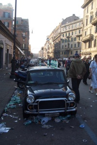 Streets of Rome during the events