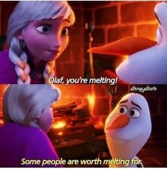 Olaf defines love...