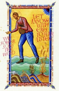 Illustration for Matthew 13:1-9 from the St. John's Bible: courtesy of http://caelumetterra.wordpress.com/2014/01/02/