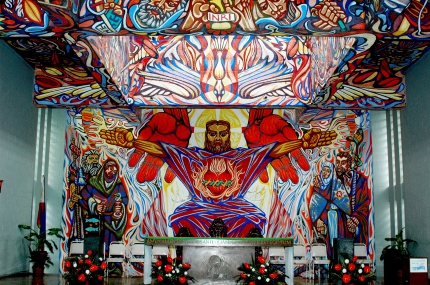 Mural at Chapel of St. Joseph the Worker, Victorias City, Phillipines