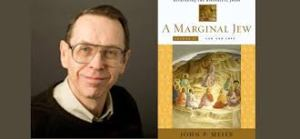 "John P. Meier and Volume IV of his monumental ""A Marginal Jew"" work (image from: http://www.orygenes.pl/2013/11/seria-wykadow-johna-p-meiera-on-line.html)"