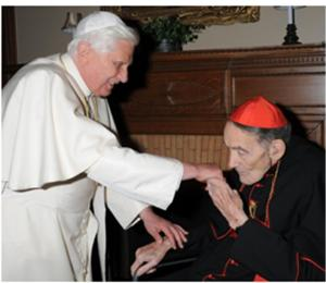 Pope Benedict Meeting Avery Dulles, SJ on his visit to NY