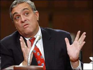 "George Tenet, of the infamous ""slam dunk"" comment"