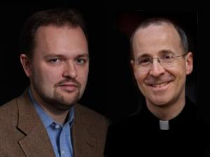 Ross Douthat and James Martin, SJ (photo courtesy of America Magazine)