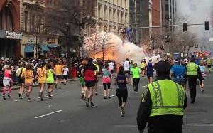 Scene of explosion on Boylston Street