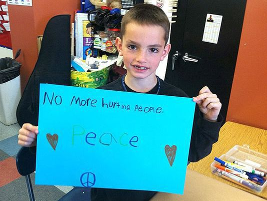 A message from Martin Richard, one of the three people killed by the bombs on April 15, 2013