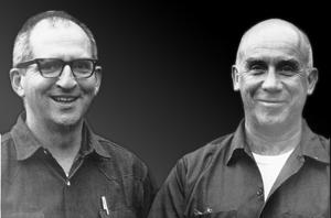 Br. Patrick Hart, Merton's last secretary, and Thomas Merton. Photo by Philip Stark. S.J.