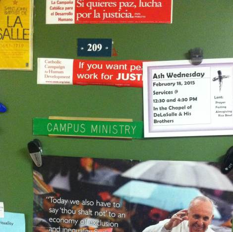 Campus Ministry and Social Action office at Manhattan College