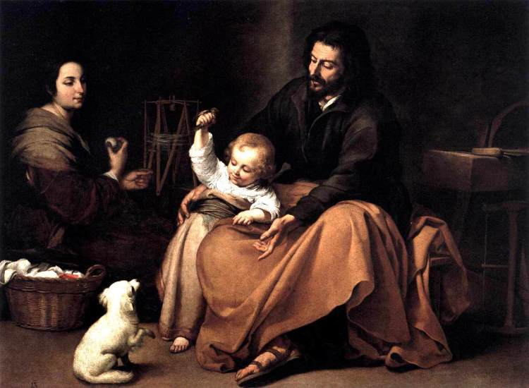 """The Holy Family With a Little Bird"" by Murillo"