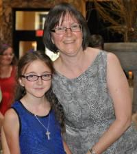 Maria Poggi Johnson with her daughter