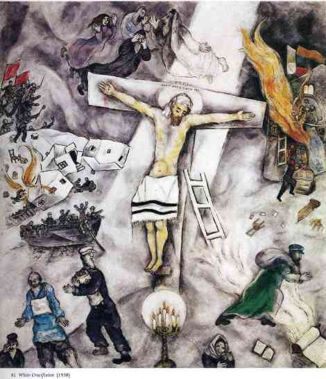 """White Crucifixion"" by Marc Chagall"