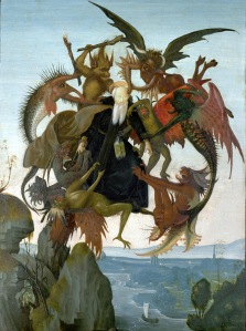 The Torment of St. Anthony by Michelangelo (photo courtesy of Wikimedia Commons)