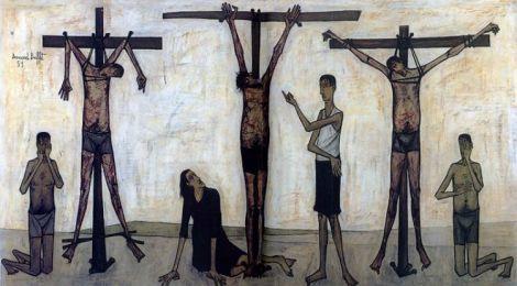 Bernard Buffet - LA PASSION DU CHRIST, 1951 oil on canvas RESIZED