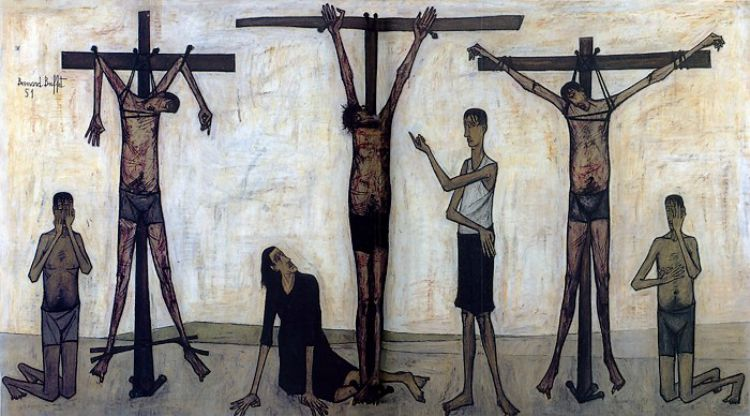 Bernard Buffet - LA PASSION DU CHRIST, 1951 oil on canvas RESIZED