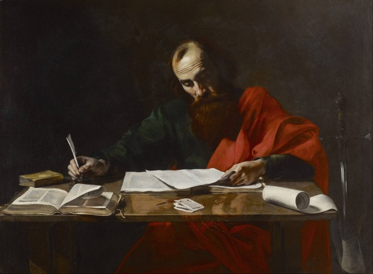Probably_Valentin_de_Boulogne_-_Saint_Paul_Writing_His_Epistles_-_Google_Art_Project (1)