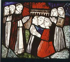 Women received into the first Dominican Monastery in 1207 by St. Dominic in Prouille, France.