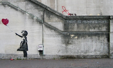 Artwork by Banksy, in London