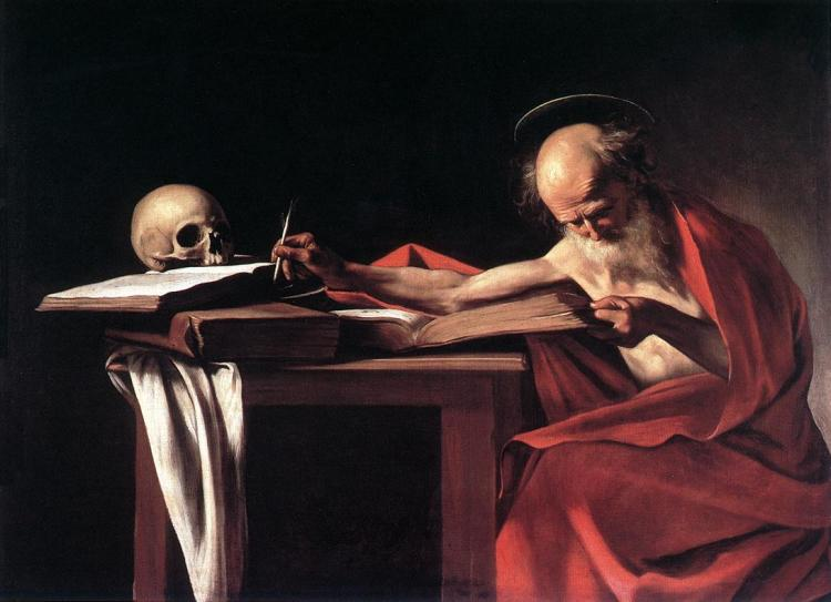 Caravaggio_-_St_Jerome,_1606