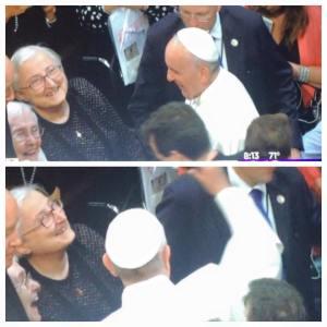 Pope Francis Greeting Sr. Noel (www.maryknoll.org)