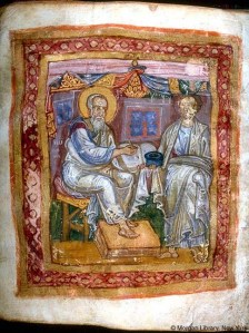 The Apostle John (L) and Marcion (R)