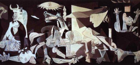 "Pablo Picasso, ""Guernica"" (1937)."