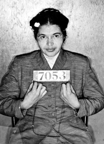 Rosa Parks, Mugshot upon her arrest, December 1, 1955. Bridgeman Art Gallery, Private Collection.