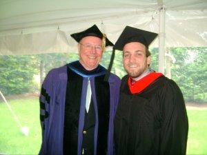 Fr. John Baldovin, SJ (L) with Mike Avery