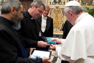 Pope Francis and the iPad