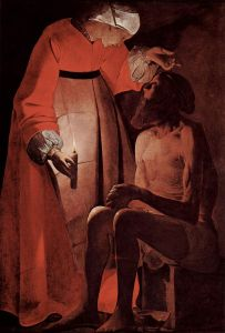 Job Mocked by his Wife, Georges de la Tour