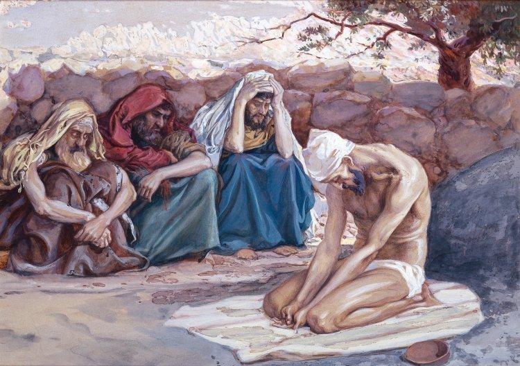 Job and His Three Friends, James Tissot