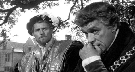 """A Man for All Seasons"" starred Paul Scofield (right) as Sir Thomas More and Robert Shaw (left) as King Henry VIII.  The film won six Academy Awards® including Best Picture. Restored by Nick & jane for Dr. Macro's High Quality Movie Scans Website: http:www.doctormacro.com. Enjoy!"