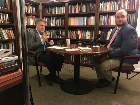 Rabbi Abraham Skorka speaks with Prof. Stephen Okey