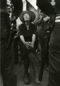 Dorothy Day picketing in support of United Farm Workers Strike