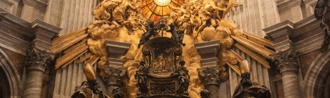 Photo of the Chair of St. Peter by Bernini.